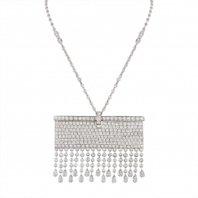 White Gold Fully Loaded Diamond Necklace